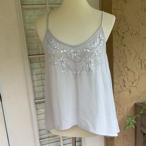Flowy Beaded Tank Top